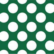 緑と白の水玉柄のフリー素材