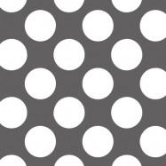 灰色と白の水玉柄のフリー素材