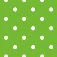 黄緑と白の水玉柄のフリー素材