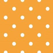 黄色と白の水玉柄のフリー素材