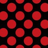 黒に赤のドットのフリー素材