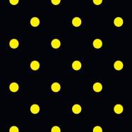 黒に黄色のドット柄のフリー素材