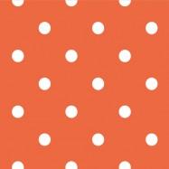 オレンジと白の水玉柄のフリー素材