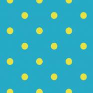 水色・黄色の水玉柄のフリー素材