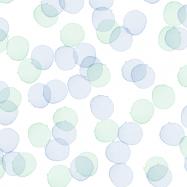 水彩のブルーとグリーンのドット柄のフリー素材