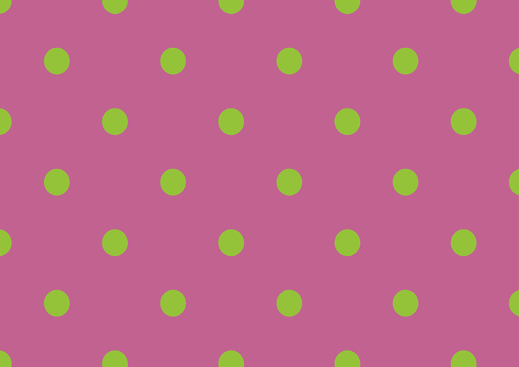 ピンクバイオレットとライトグリーンの水玉模様フリー素材