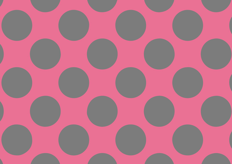 ピンクと灰色のドット柄・大