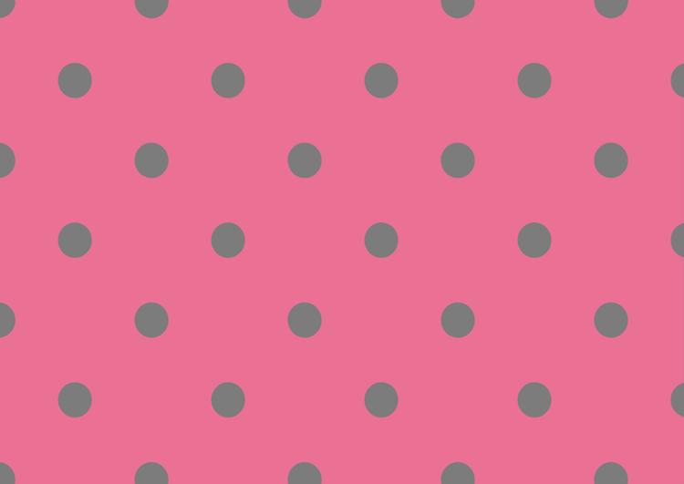 ピンクと灰色のドット柄・中