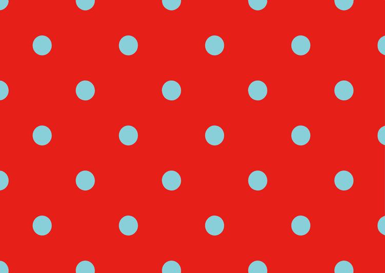 赤と水色の水玉模様フリー素材