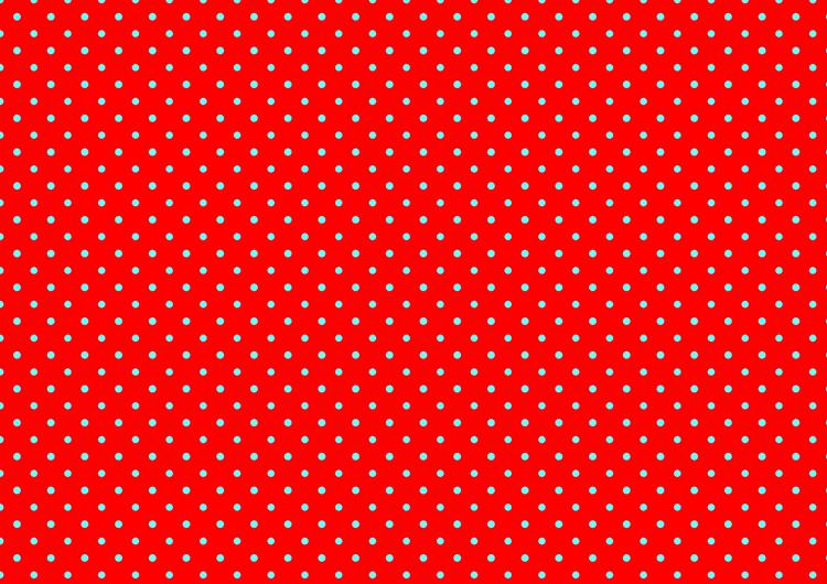 赤と水色水玉模様フリー素材