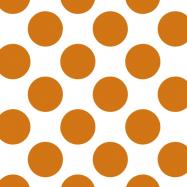ホワイトとオレンジのドット柄フリー素材