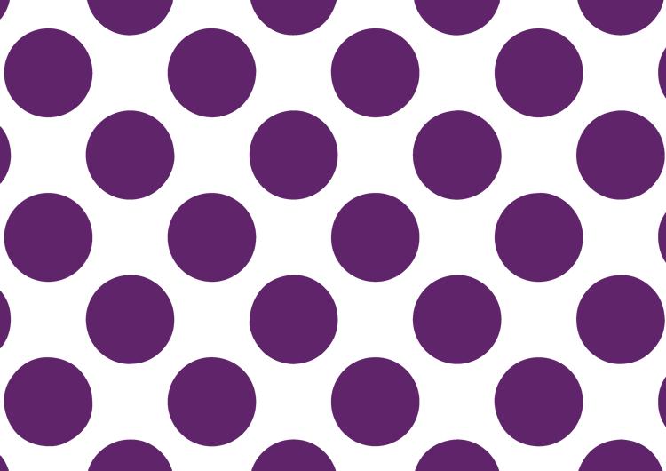 白と紫の水玉模様フリー素材・ドット大