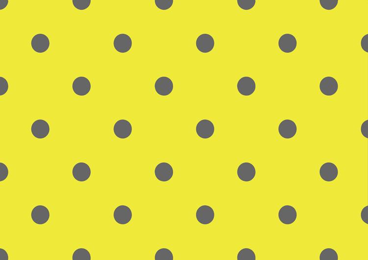 水玉フリー素材:黄色背景灰色ドット中