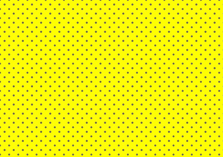 水玉フリー素材:黄色背景灰色ドット小